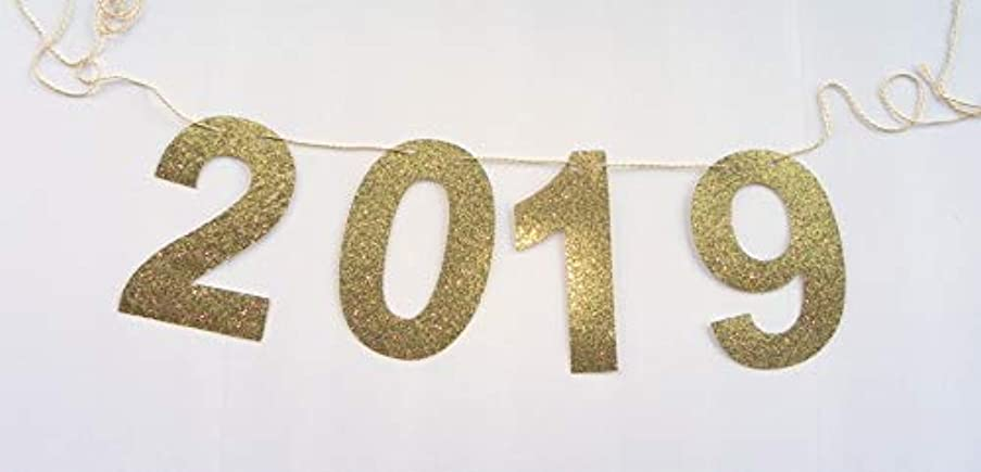 Love Events 2019 Gold Glitter Banner Garland Graduation Event Party Special Event Class of 2019