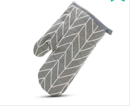 AHJUYTKJOIIO geïsoleerde handschoenen: een magnetron, huishoudkeuken, katoenen doek, bestand tegen hoge temperaturen, vijfvinger-oven, verdikte handschoenen