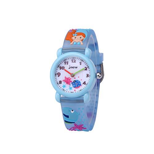 ULTECHNOVO Reloj para Niños Reloj de Pulsera de Sirena 3D Dibujos Animados Niños Niño Reloj de Pulsera de Cuarzo Tiempo Maestro Regalo de Cumpleaños