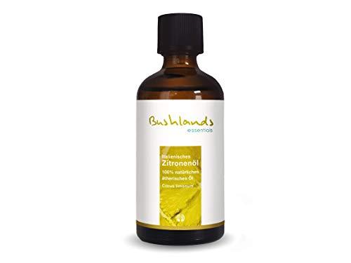 Zitronenöl 100 ml, italienische Herkunft, 100% naturreines ätherisches Öl der Pflanze Citrus limonum von Bushlands essentials