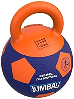 Gigwi Jumball Soccer Ball for Dog, Purple-Orange