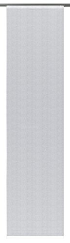 GARDINIA Flächenvorhang (1 Stück), Schiebegardine, Blickdicht, Flächenvorhang Stoff Digitaldruck Fischgrät Grau, 60 x 245 cm (BxH)