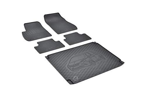Passende Gummimatten und Kofferraumwanne Set geeignet für OPEL Zafira C 5-Sitzer ab 2012 EIN Satz