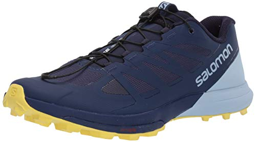 Salomon Women's Sense Pro 3 Trail Running Shoes, Patriot Blue/Cashmere Blue/Aurora, 6.5