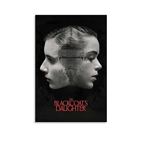 Oldove Thriller Terror Shock Movie Poster The Blackcoat's Daughter February Canvas Art Poster and Wall Art Picture Print Modern Family Bedroom Decor Posters 16x24inch(40x60cm)