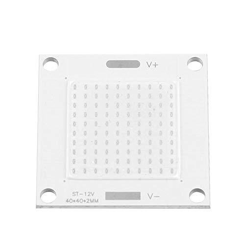 Boquite Chip 12-14V 50W LED, COB LED Chip Integrato Lampadina Pannello Lampadina Chip a Risparmio energetico per proiettore Fai da Te Proiettore, Installazione Fa
