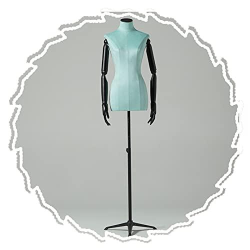 HAIPENG Maniquí de Costura Busto Hembra, Forma Vestido Maniquí con Brazos Madera, Modelo Ficticio Exhibición Ropa para Estudiantes Moda Modistas, 3 Estilos (Size : A)