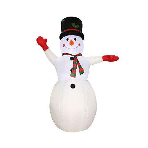 8 FT gonfiabile di Natale del pupazzo di neve con il regalo Sacchetto ha condotto le luci di natale for le vacanze Blow Up Family Party Decoration Yard Prato favori di Indoor Outdoor gonfiabili