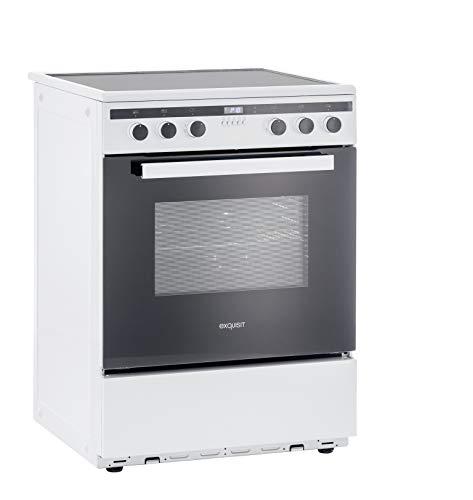 Exquisit Standherd EHI 60-3 | Elektro-Standherd | 60 cm | Induktion | 65 L Garraum | Weiß