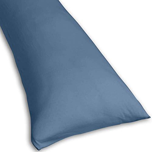 Traumreiter Kissenbezug taubenblau für Visco-Dream Gel Seitenschläferkissen 140 x 50 cm