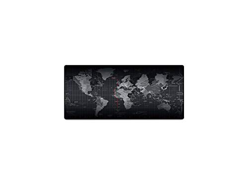 Gaming Mouse Pad, Extended Size 800'300'3mm(31.4×11.8×0.12 inch) for Professional Esports,World Map Large Mouse Pad for Wireless Mouse