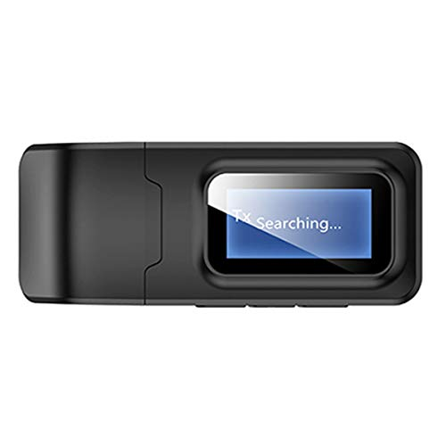 Rehomy Receptor transmisor de audio inalámbrico 2 en 1 con pantalla LCD 3.5mm AUX adaptador de audio estéreo para TV/auriculares/coche
