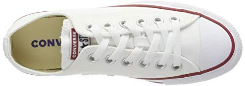Converse Chuck Taylor All Star Ox, Zapatillas de Tela Unisex Adulto, Blanco (White), 26 EU