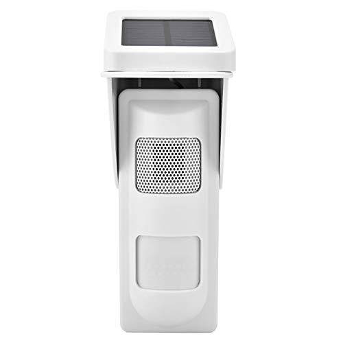 Germerse Sistema de Alarma inalámbrico Sensor Solar inalámbrico Fácil instalación Villas Resistentes y duraderas para la casa