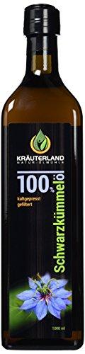 Schwarzkümmelöl • 1000 ml • Frischegarantie: täglich mühlenfrisch direkt vom Hersteller Kräuterland-Ölmühle • gefiltert • kaltgepresst • ägyptisch • 100% naturrein • mild