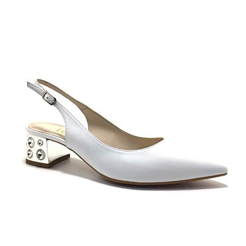 LODI CHIDUR, Zapatos de Novia, Puntera Cerrada, Color Blanco Roto, de tacón, para Mujer.