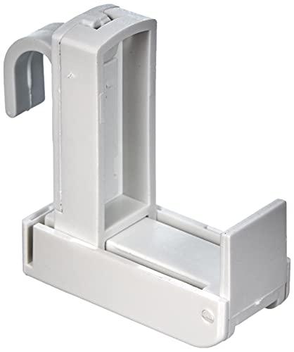 Gardinia Supporto a Clip per Asta da Tenda, Bianco, 0.1, 2 unità