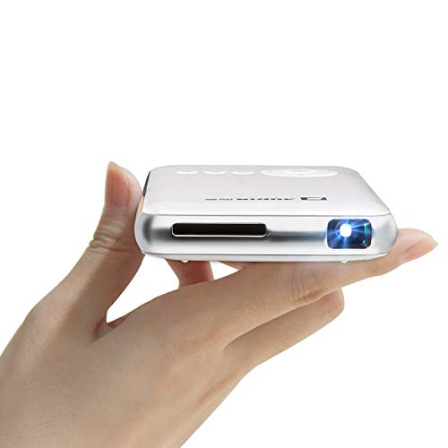 AODIN Young 100 ANSI Lumen WiFi Portable TV Projector, 1080P Supported Pocket DLP LED Mini Video Projector for Home and Outdoor Entertainment, iPhone Android Pico Projector with HDMI, USB, TF, Micro
