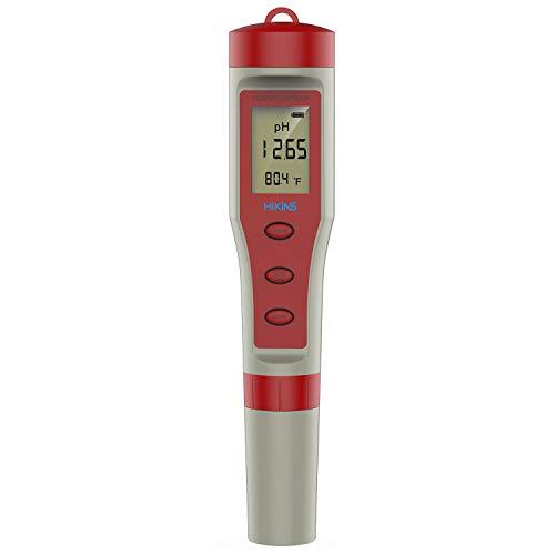 HiKiNS Medidor Digital de Calidad del Agua Alta precisión 4 en 1 PH/TDS/EC/Temp Tester para acuarios Hidropónicos Pool SPA Agua Potable