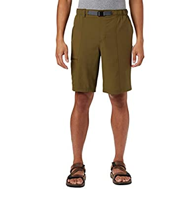 Columbia Men's Trail Splash Shorts, Stain & Water Resistant, Sun Protection, New Olive, Medium x 10