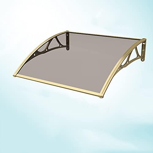 Tejadillo De Protección, Marquesina para Puertas Y Ventanas Protección UV contra La Lluvia Y La Nieve Cubierta De Patio Exterior Rain Shelter Toldo De Policarbonato Silencioso MAHFEI
