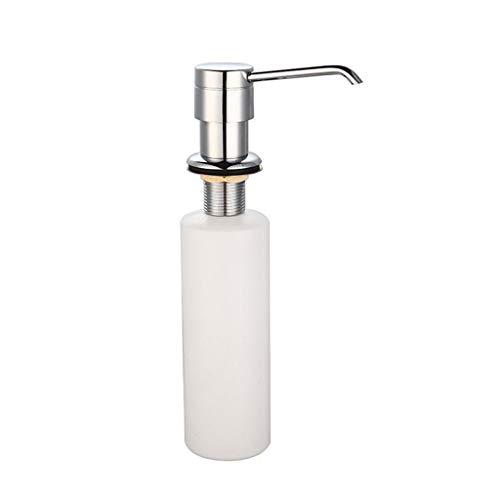 WARMWORD Dispensador De Jabón o Loción 300ml Botellas De Jabón De Mano De Cocina con Bomba De Acero Inoxidable Accesorios De Baño Accesorios De Bañera Inoxidable Botella de Plástico
