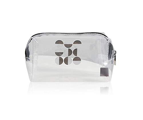 tendance, pochette de maquillage multifonction, Voyage portatif multifonctionnel transportant le sac cosmétique de point noir et gris 10 * 8.5 * 10cm