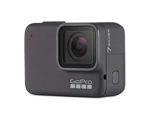 GoPro HERO7 Silver Waterproof Digital Action Camera with Touch Screen 4K HD Video 10MP Photos (Renewed)
