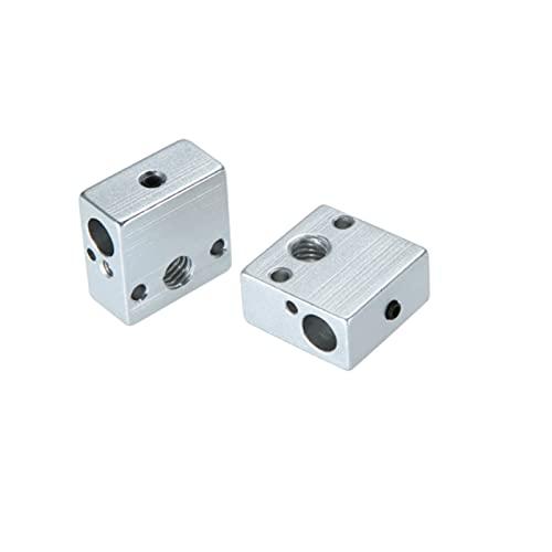 xqjywjcd 2 unids aluminio calentador bloque caliente extremo calefacción bloque 202010mm para Anet ET4 ET4X ET4PRO ET5 ETPRO 3D impresión Accesorios