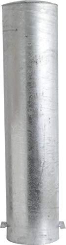 Schake stalen buispoller OE Ø 273 mm wit | rood - 2,00 m - paal plaatsvast - voor in beton