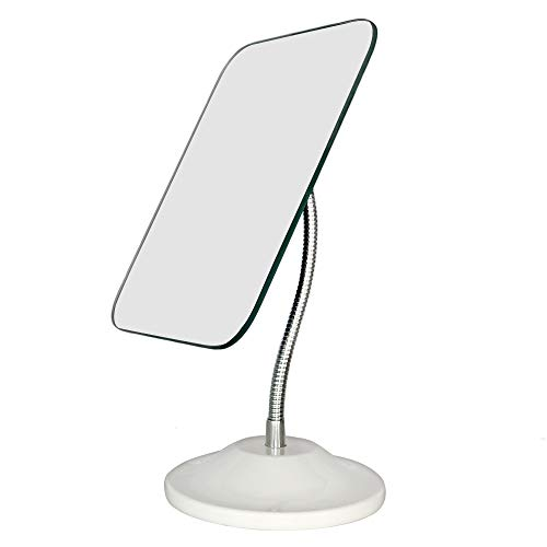 YEAKE 鏡 卓上 大きめ かがみ 卓上鏡 卓上ミラー 高さ調整 スタンドミラー 卓上 手鏡置き鏡可能スタンドミ...