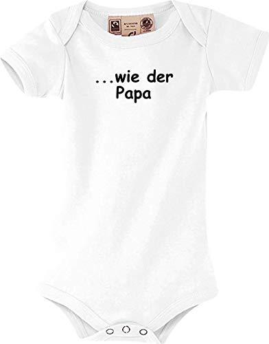 Shirtstown Bébé Body. comme Le Papa, Culte - Blanc, 12-18 Monate