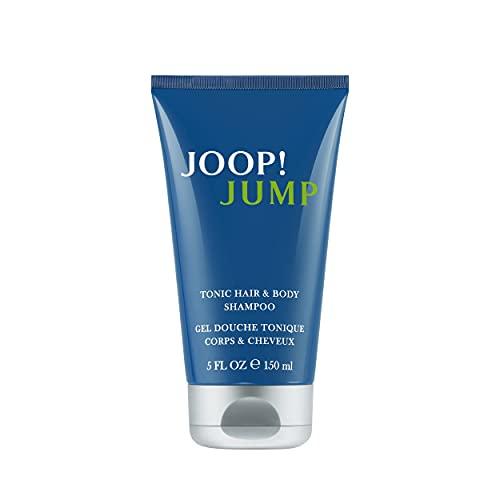 JOOP! Jump Shower Gel for him, Duschgel mit frisch-aromatischem Herrenduft, Tonic Hair and Body Shampoo, 150 ml