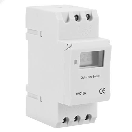 Interruptor temporizador de riel DIN, interruptor temporizador de riel guía, Ac220V / 50Hz general para lámpara - 20 - ~ 60 ℃ Calentador de agua para aire acondicionado