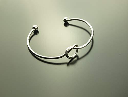 Armreifen Knoten Liebe Freundschaft Infinity unendlich Armband silbern Juvelato