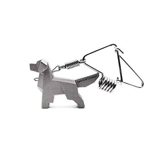 CQ Golden Retriever Clé De Voiture Couple Porte-clés Créatif Taille Simple Métal Animal Porte-clés Cadeau Unique