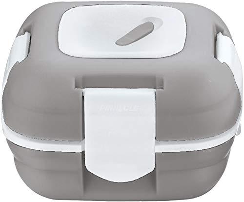 Pinnacle Lunchbox, isoliert, auslaufsicher, für Erwachsene und Kinder – Thermo-Lunchbehälter mit neuem Wärmeablassventil, 473 ml, (grau-weiß)