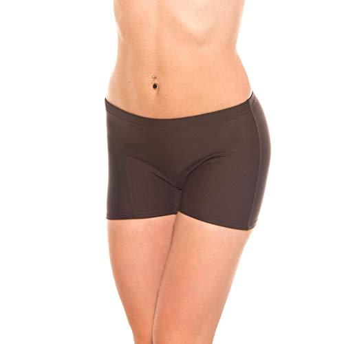 Aquarti Damen Badeshorts Kurze Badehose Unifarben, Farbe: Braun, Größe: 42