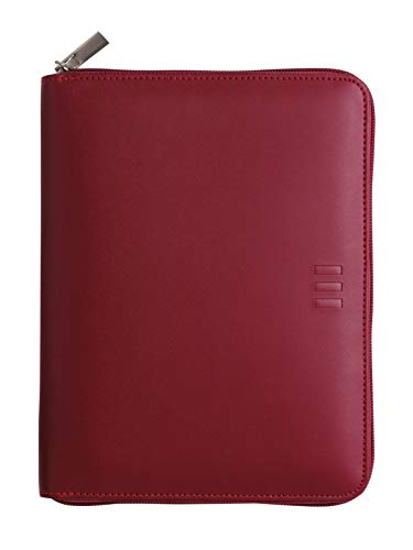Finocam – Diary 2022 1 Day Page, from January 2022 to December 2022 (12 months) 500 – 117 x 181 mm Open Zip Organiser Burgundy Spanish