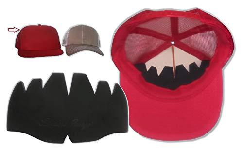 3Pk. Black Truckers Mesh Caps Inserts| Hat Shaper| Hat Liner| Ball Caps Shaper.