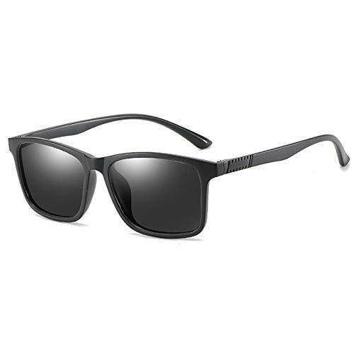 COCKE Gafas de Sol Mujer polarizadas bisagras de Resorte duplicadas Completas Gafas de Sol para Hombres Mujeres conducción Gafas Gafas de Sol Unisex UV400 Protección,Negro