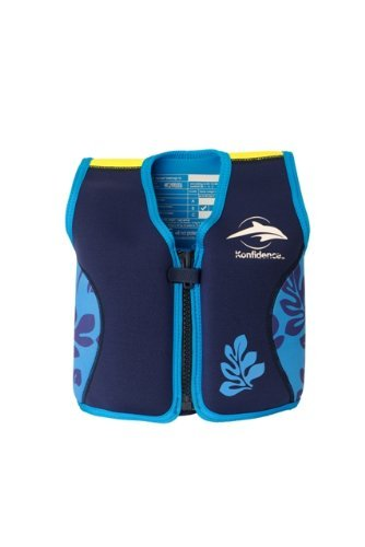 Kinder-Schwimmlernhilfe Aus Neopren, Navy/Blue Palm, Konfidence Jacket Größe: 12-16 kg (18Monate-3 Jahre), Brustumfang 56 CM