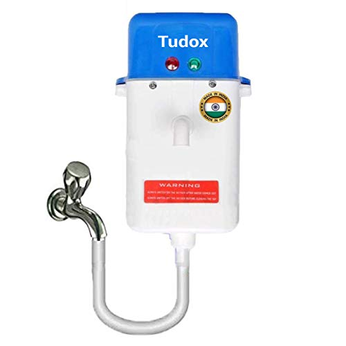 Instant Water Heater/Geyser for Kitchen, Hotel, Bathroom, Hospital, and Outdoor. Portable 1 Litre Geyser with Auto Cut Off & Fully Shockproof Body - 2 YEAR WARRANTY (Multi-Color & Design)