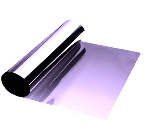 Estación Mania - Banda de película solar de 150 x 20 cm para colocar sobre parabrisas, parasol, color morado de opacidad degradada sobre base transparente, no reflectante y sin metalización.