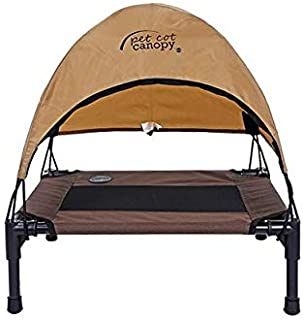 wahsable Outdoor Raised Large Dog beds with Tent Strong Durable pet beds Tents Portable Oxford Fabric