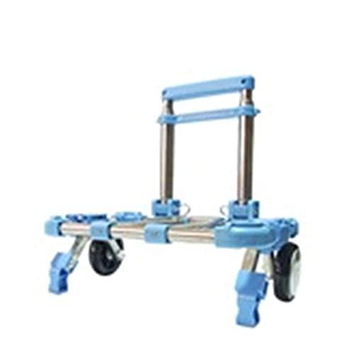 Trolley casa pieghevole della luce multi-funzione Ultra Mute Trolley Car Carrello Carrello per valigie rimorchio del camion in acciaio inox in grado di sopportare 20KG trolley ( Color : Blue )