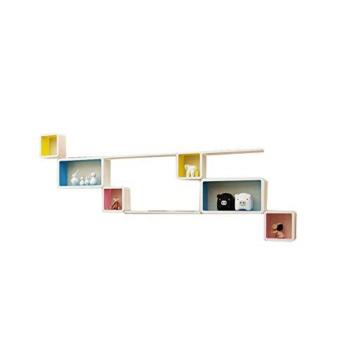 XING ZI Shelf C-K-P Einfache Kreative Wand Regal Frei Punch Klavier Farbe Gitter Wandbehang Schlafzimmer Wohnzimmer TV Wand Dekoration Wand Partition (größe : F)