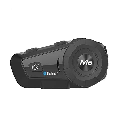 XYBH Xybhjxb 1000M Bluetooth Walkie Talkie Casco de Motocicleta Auriculares for 2Rider BT Wireless Walkie-Talkie Moto Stereo WALKIE-Talkie MP3 GPS FM Radio (Color : Black)