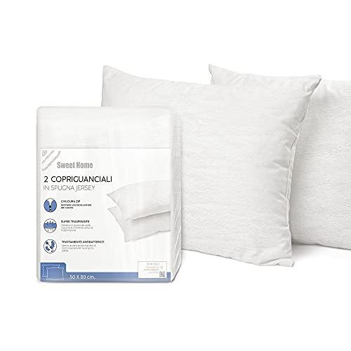 Sweet Home - Juego de 2 Fundas de Almohada de Punto antibacterianas