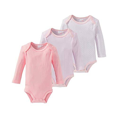 Bornino Le lot de 3 bodys à manches longues bébé, rose